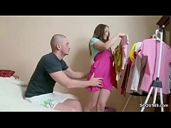 He Seduce His Petite Step-Sister to Fuck and Cr...