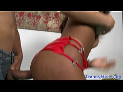 Amateur tranny facialized after assfucking