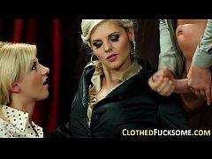 Dressed glam whore spunk