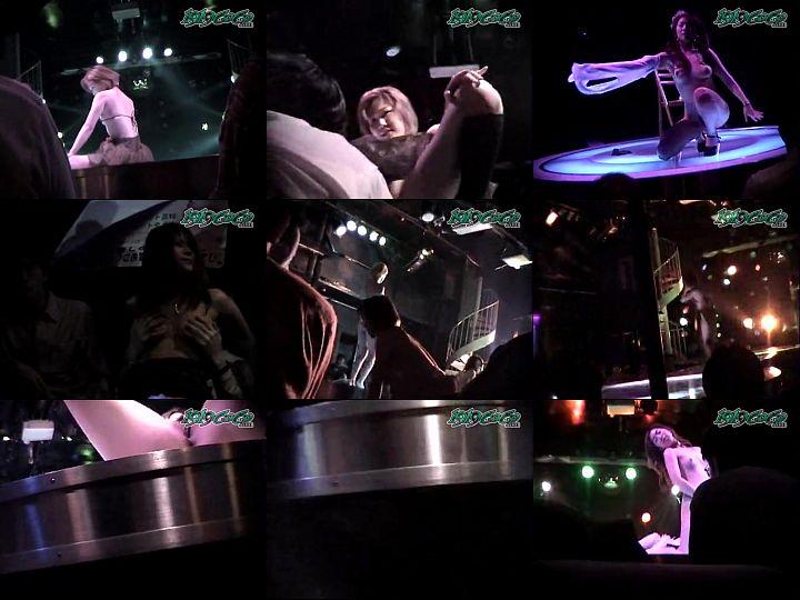 美人ストリッパーがステージでダンスショーする様子を隠し撮り