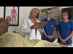 CFNM nurse Krissy Lynn group sex action