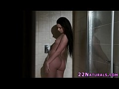 Babe makes love in shower