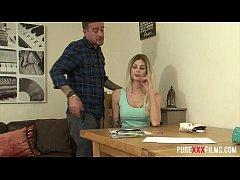 Blonde schoolgirl takes tutoring