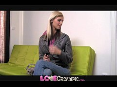 Love Creampie Young cute skinny blonde amateur takes big cock in office