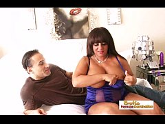 Busty chubby girlfriend fuck hard on camera for...