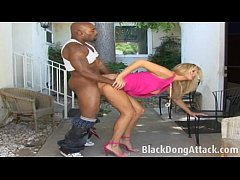 Tall blonde likes black cocks