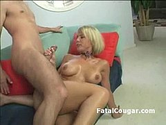 Shorthair blonde rides dick and craves for anal...