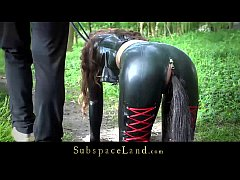 Full day exploitation of a bondage slave part 1...
