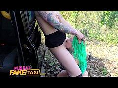 Female Fake Taxi Dildo makes hot lesbian tattoo...