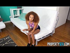 PropertySex - Tiny black tenant fucks some big ...