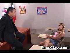 Hot schoolgirl fucking in the classroom