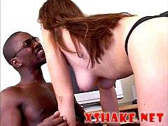 Redbone stripper vs thick porn star shaking ass licking pussy
