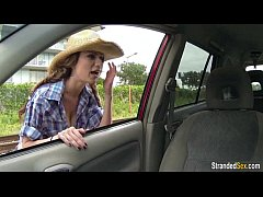 Teen hitchhiker Dillion Carter gets a free ride...