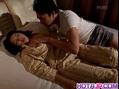 Reiko Hanasaki has nooky rubbed with thong and ...