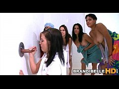 Brandi Belle's Friends Watch Her Suck Cock Thro...