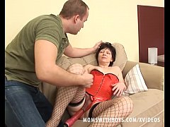 Granny In Stockings Couch Sex