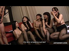 Asian boss fucking all of the eager slutty bitches