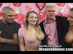 Big Titty Kagney Linn Karter blows her fan with...