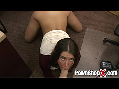Rocker Chick Sells Her Nice Ass for Cash at Paw...