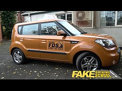Fake Driving School readhead teen and busty MIL...