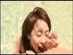 素人のタマ舐め,バキュームフェラ,水着動画