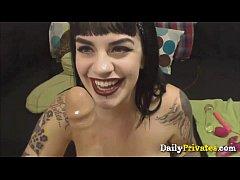 Busty tattooed milked girl Marilyn Mayson
