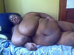 SSBBW black amateur MsBinthere playing with boo...