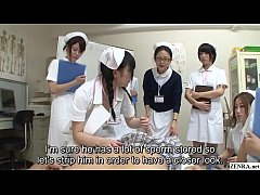JAV nurses CFNM handjob blowjob demonstration S...