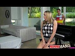 Piano teacher horny threesome with teens