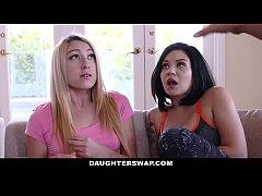 DaughterSwap - Dads Fuck Lesbian Daughters