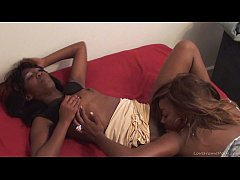 Sexy ghetto lesbians eating pussies and toying