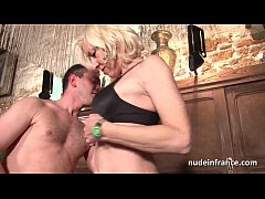 Sexy amateur french mature deep analized with c...