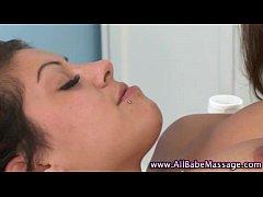 Lesbo masseuse kiss and lick