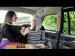 Female Fake Taxi Busty blonde licks her first p...