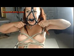 Fetish Babe Rope Play Mask And Choking