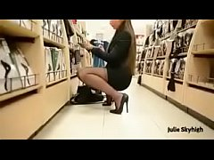 Best Belgian Mon Shopping with Buttplug Heels See pt2 at goddesheelsonline.co.uk