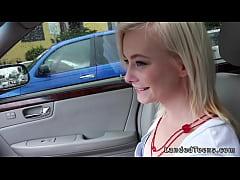 Teen hitchhiker fucking stranger in his car