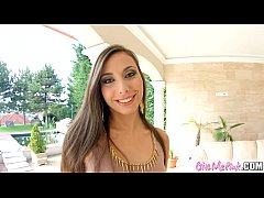 Givemepink brunette Carla Cruz masturbates with...
