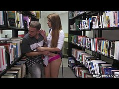 Pounding a hot teen brunette (Joseline Kelly) in the Library