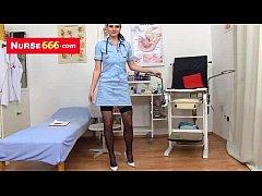 Teen slut Kristyna naughty nurse pussy fingering