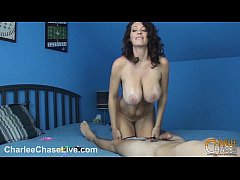 Kinky MILF Charlee Chase blows a balloon and a cock!