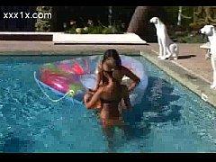 Poolside lesbians