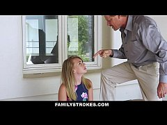 FamilyStrokes - Cute Stepdaughter Punished By Her Stepdaddy and Mom