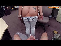 Big titty Latina gives head and pounded for som...