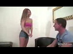 Fake casting for skinny German Asian teen for M...