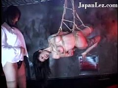 Asian Bondage Lesbian Hung Up Covered With Blood