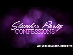 Three slutty lesbians share their slumber party confessions