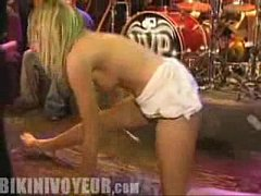 Bent Over Wet Thong Crotch Split Leg And Spread...