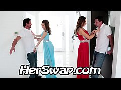 Riley Reid vs Melissa Moore Hump  BFF Dad at Pr...