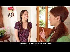 TeensLoveBlackCocks - Cute Redhead Rides Big Bl...